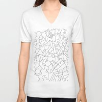 geo V-neck T-shirts featuring Geo by Dore