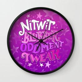 A Few Words Wall Clock