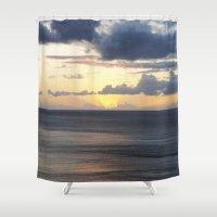 sail Shower Curtains featuring Sail by Sarah Hebard