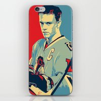 blackhawks iPhone & iPod Skins featuring Towes One Goal by Thousand Lines Ink