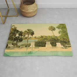 Lolita's Poolside Vacation - Beach Art Rug