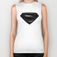 superman Biker Tanks featuring SUPERMAN by Smart Friend
