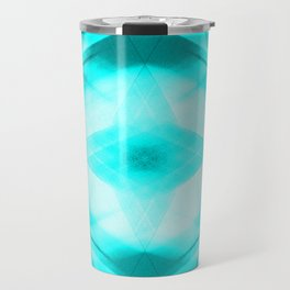 Bright warm triangular strokes of intersecting sharp lines with heavenly triangles and a star. Travel Mug