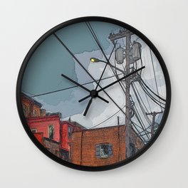 View from the alley - Night approaching Savannah Wall Clock