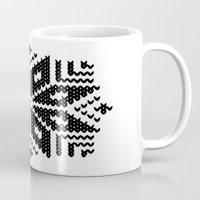 knit Mugs featuring knit flake by Miranda J. Friedman