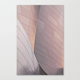 Sunrise architectural abstract of the LA Phil designed by Frank Gehry Canvas Print