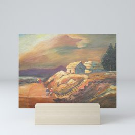One Village Sunset Mini Art Print