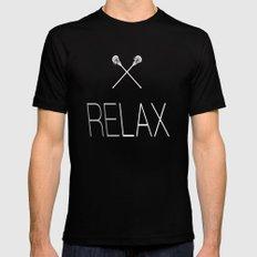 ReLax Lacrosse Black Mens Fitted Tee MEDIUM