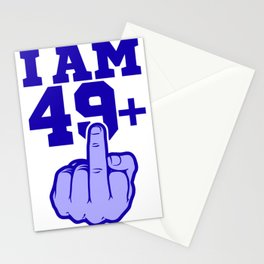 Middlefinger Up I'm 49th Birthday Gift Idea Stationery Cards