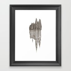Gothic Revival on white Framed Art Print
