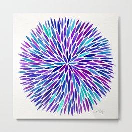 Lavender Burst Metal Print