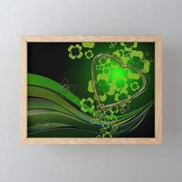 Heart And Shamrocks Framed Mini Art Print