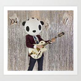 Peter Panda Rocking Out Art Print