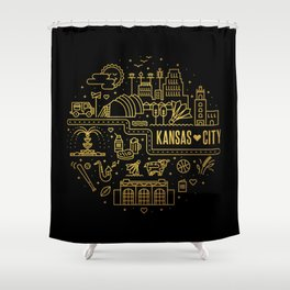 kcmo icons Shower Curtain