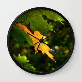 Gold Leaf Wall Clock