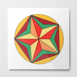 From the mandala series pattern recognition. Metal Print