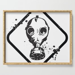Gas Mask Serving Tray