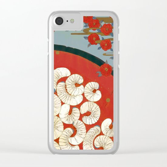 Beetle worms in the cup | Senjiro Nakata Clear iPhone Case