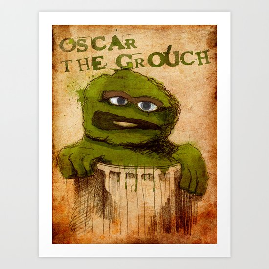 Oscar the Grouch Art Print