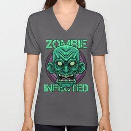 Zombie Monster Beast Infected Rotter Dead-Man Gift  Unisex V-Neck
