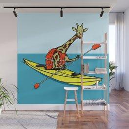 Giraffe Sea Kayaking Wall Mural