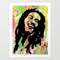 marley Art Prints featuring Marley by Katie Mont