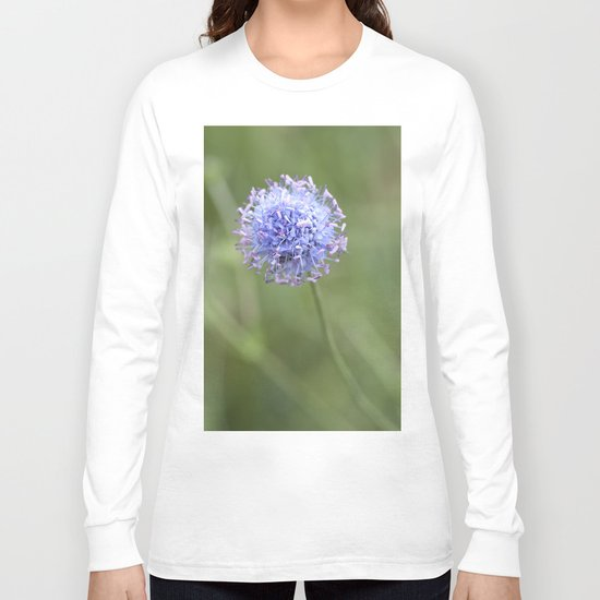 Blue LOVE - Flower Flowers Floral Spring on #Society6 Long Sleeve T-shirt
