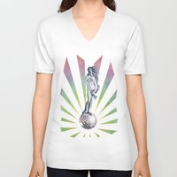 disco V-neck T-shirts featuring Disco Venus by Angelo Cerantola