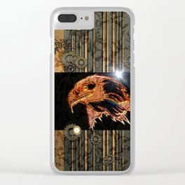 Steampunk,  with awesome eagle Clear iPhone Case