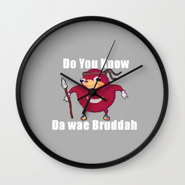 Do You Know Da wae Wall Clock
