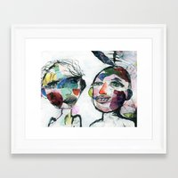 valentines Framed Art Prints featuring Valentines by Julia Dean