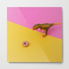 Dinos Like Donuts Metal Print