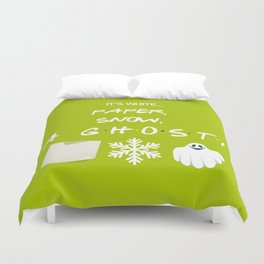 """Paper, Snow, A Ghost!"" - Friends TV Show Duvet Cover"