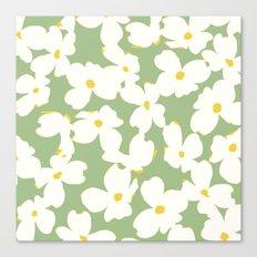 Dogwood Floral: Sage/Green Canvas Print