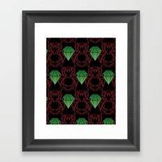 Emeralds & Demons [BLACK] Framed Art Print