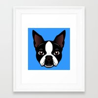 boston Framed Art Prints featuring boston by the art of dang