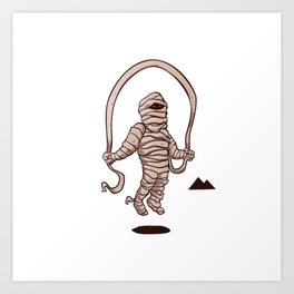 mummy jumping rope Art Print
