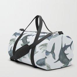 Sharks. Sea background Duffle Bag