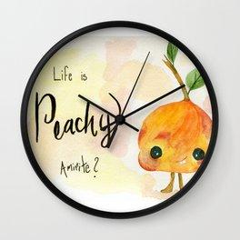 Life is Peachy Wall Clock