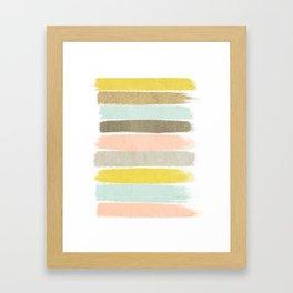 Madison - Brushstroke art print in modern colors bright and happy gifts for trendy girls Framed Art Print