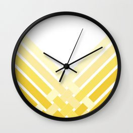 Yellow Ombre Stripes Wall Clock