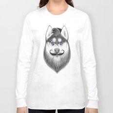 bearded husky Long Sleeve T-shirt