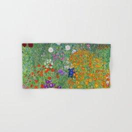 Gustav Klimt Flower Garden Floral Art Nouveau Hand & Bath Towel