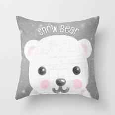 Snow Bear Throw Pillow