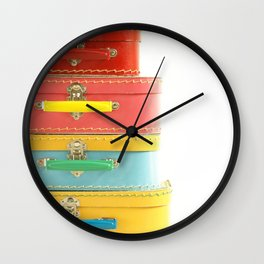 Vintage Suitcases... Wall Clock