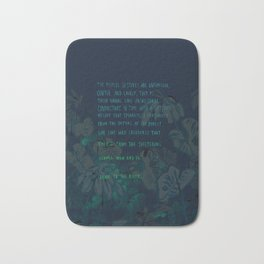 """""""Conquest of the Useless"""" by Werner Herzog Print (v. 4) Bath Mat"""