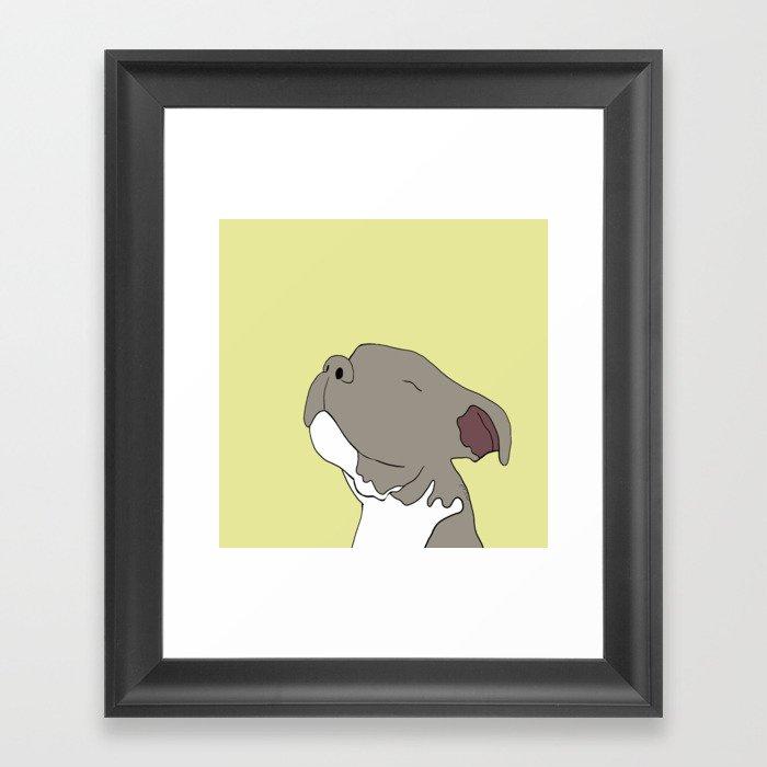 Sunny The Pitbull Puppy Framed Art Print