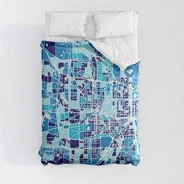 Minneapolis Minnesota Abstract Mosaic Map Comforters