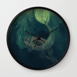 The mermaid and the sailor Wall Clock