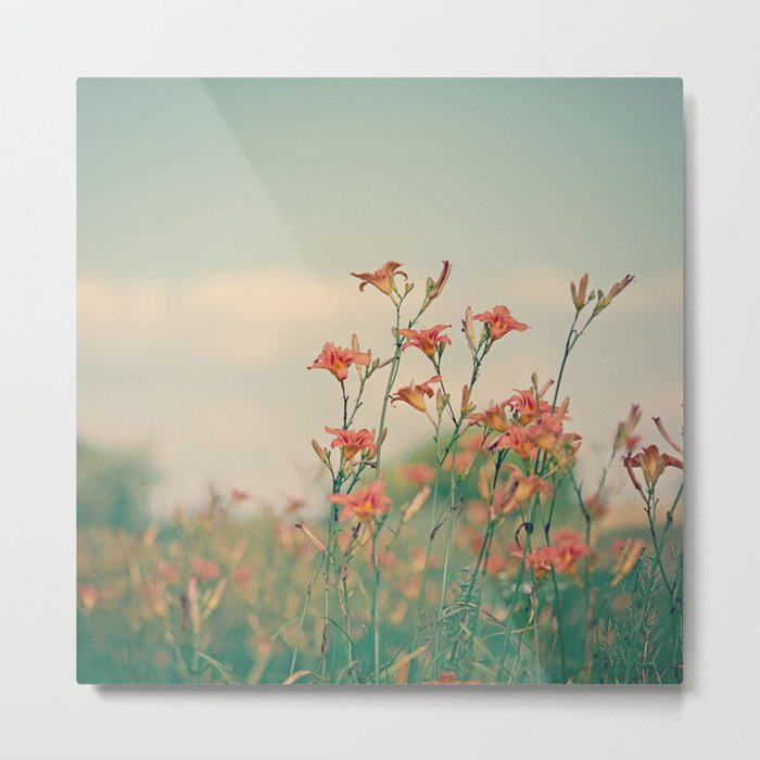 Orange Lilies  Metal Print